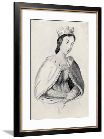 Eleanor of Provence--Framed Art Print