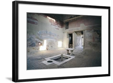 Impluvium, House of Mosaic Atrium, Herculaneum--Framed Art Print