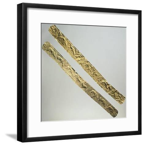 Gold Foils with Figures of Animals--Framed Art Print