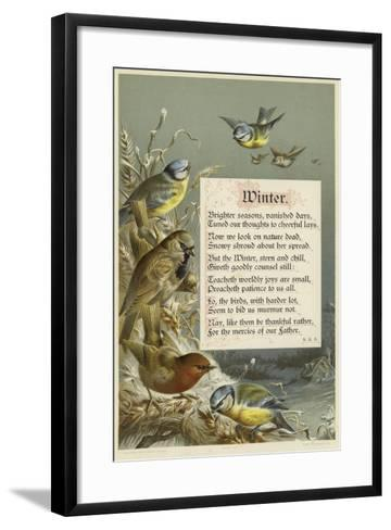 Winter--Framed Art Print