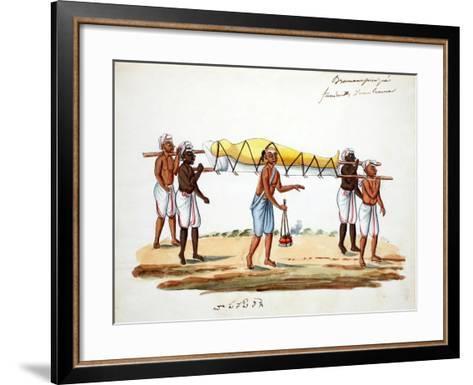 Brahman Funeral Procession--Framed Art Print