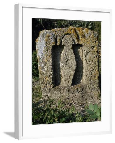 Stele Depicting Goddess Tanit, Punic Sanctuary--Framed Art Print