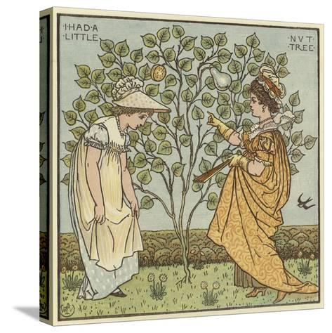 I Had a Little Nut Tree-Walter Crane-Stretched Canvas Print