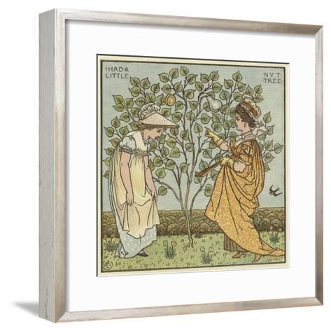 I Had a Little Nut Tree-Walter Crane-Framed Art Print