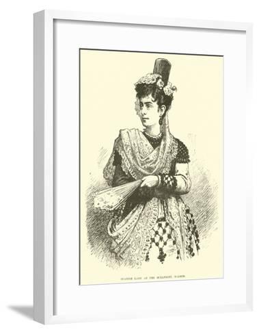 Spanish Lady at the Bullfight, Madrid--Framed Art Print