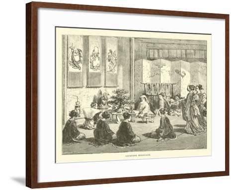Japanese Marriage--Framed Art Print