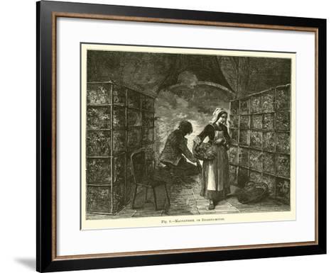 Magnanerie, or Rearing-House--Framed Art Print