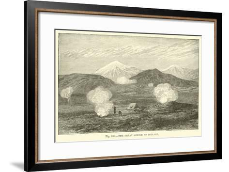 The Great Geyser of Iceland--Framed Art Print