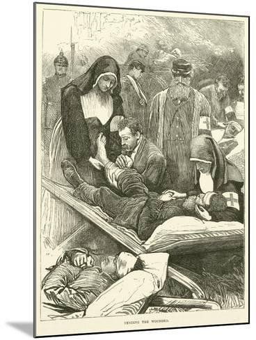 Tending the Wounded, September 1870--Mounted Giclee Print