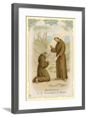 Blessing of St Francis of Assisi--Framed Art Print