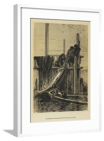 Sturgeon Fishing on the Volga River--Framed Art Print