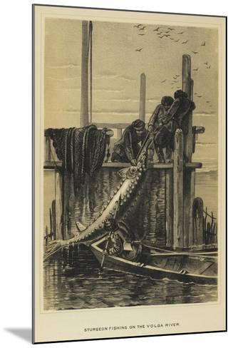 Sturgeon Fishing on the Volga River--Mounted Giclee Print