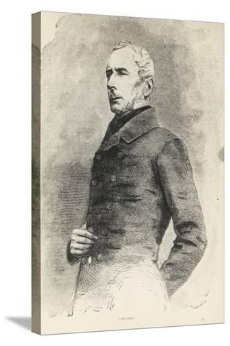Portrait of Alphonse De Lamartine--Stretched Canvas Print