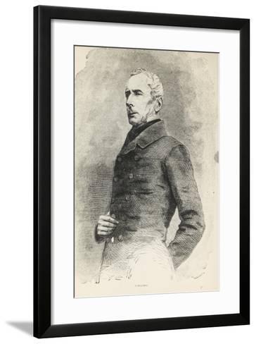 Portrait of Alphonse De Lamartine--Framed Art Print