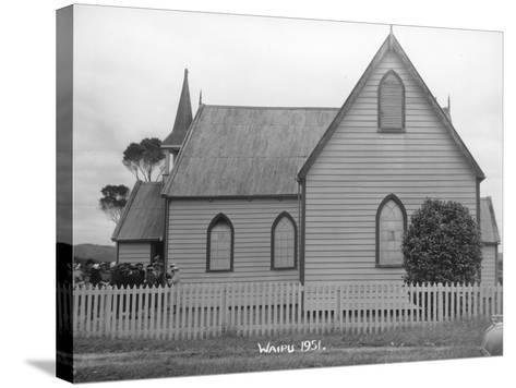 Waipu Presbyterian Church, 1951--Stretched Canvas Print
