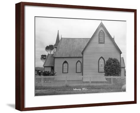 Waipu Presbyterian Church, 1951--Framed Art Print