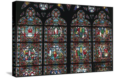 Stained Glass Windows, Notre-Dame Cathedral--Stretched Canvas Print