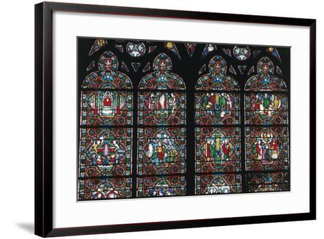 Stained Glass Windows, Notre-Dame Cathedral--Framed Art Print