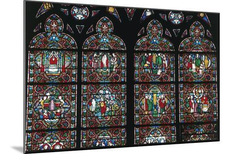 Stained Glass Windows, Notre-Dame Cathedral--Mounted Giclee Print