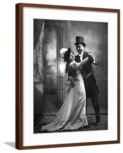 Portrait of Actors--Framed Art Print