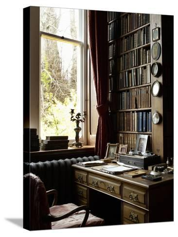 Sir William Gladstone's Desk, Hawarden Castle--Stretched Canvas Print