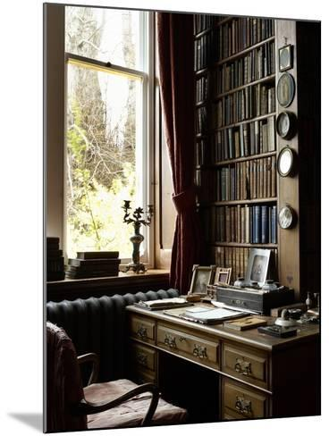 Sir William Gladstone's Desk, Hawarden Castle--Mounted Photographic Print