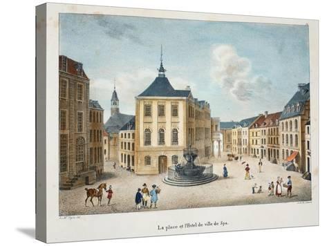 La Place Et L'Hotel De Ville De Spa, C.1895--Stretched Canvas Print