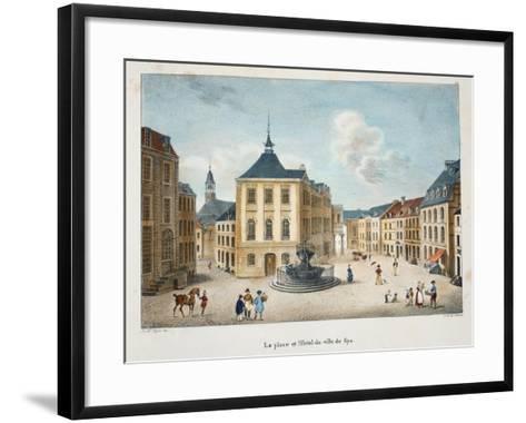 La Place Et L'Hotel De Ville De Spa, C.1895--Framed Art Print