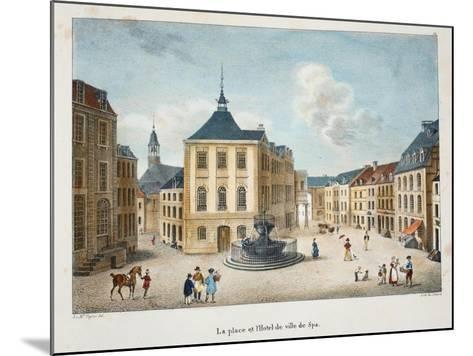 La Place Et L'Hotel De Ville De Spa, C.1895--Mounted Giclee Print