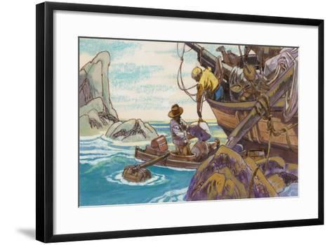 Illustration for Swiss Family Robinson--Framed Art Print