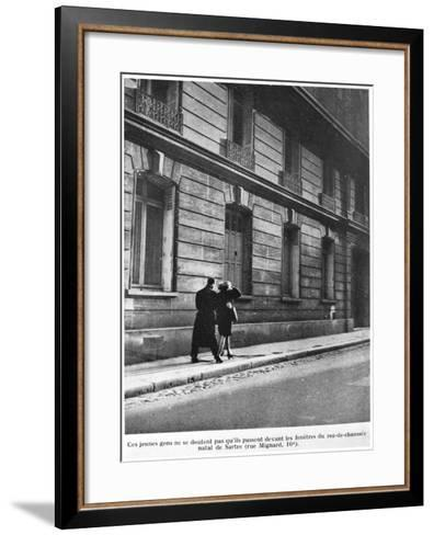 Birthplace of Jean-Paul Sartre--Framed Art Print