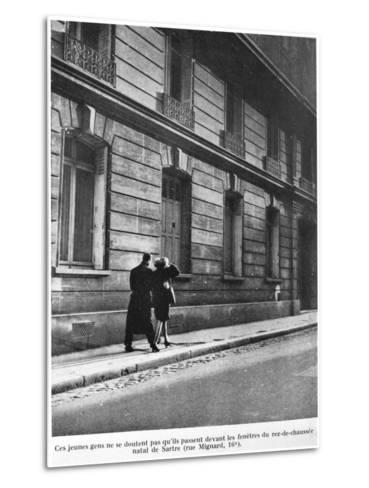 Birthplace of Jean-Paul Sartre--Metal Print