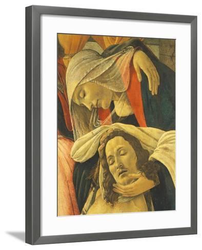Lamentation over the Dead Christ, C.1490-1500-Sandro Botticelli-Framed Art Print