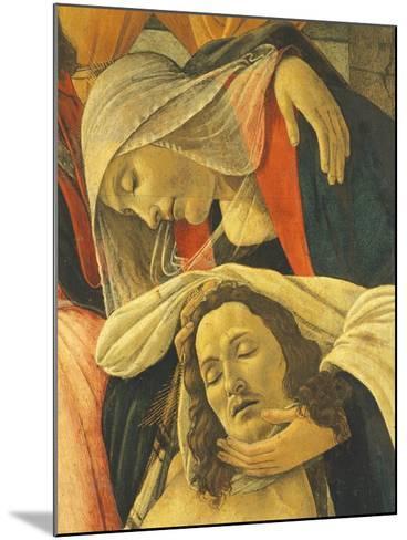 Lamentation over the Dead Christ, C.1490-1500-Sandro Botticelli-Mounted Giclee Print