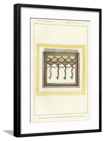 Sand Mosaic of the Hopi Antelope Priests--Framed Art Print