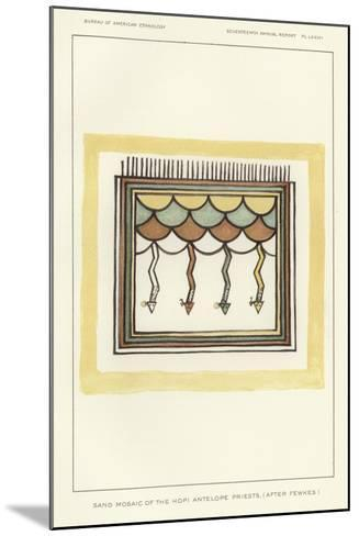 Sand Mosaic of the Hopi Antelope Priests--Mounted Giclee Print