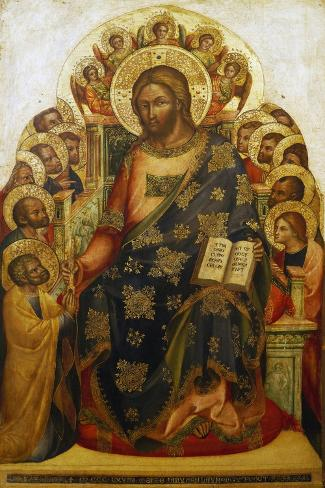 Jesus and St Peter-Lorenzo Veneziano-Stretched Canvas Print