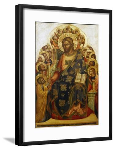 Jesus and St Peter-Lorenzo Veneziano-Framed Art Print