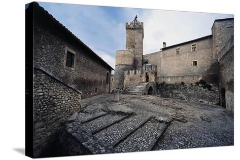 Inner Courtyard, Piccolomini Castle--Stretched Canvas Print