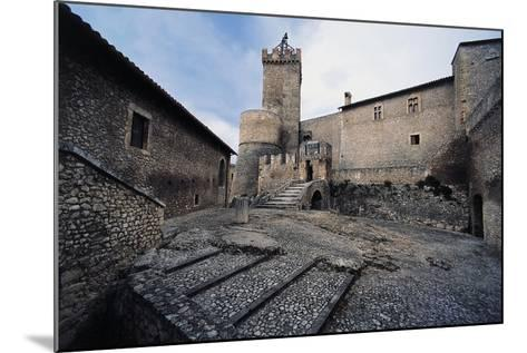 Inner Courtyard, Piccolomini Castle--Mounted Giclee Print