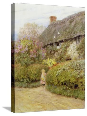 Freshwater Cottage-Helen Allingham-Stretched Canvas Print