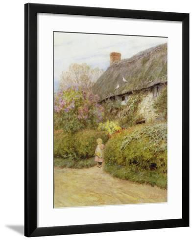 Freshwater Cottage-Helen Allingham-Framed Art Print