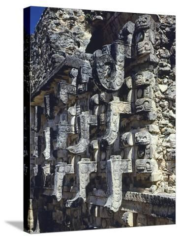 Detail of a Facade of the Temple of Codz-Poop--Stretched Canvas Print