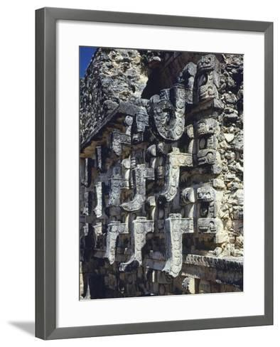 Detail of a Facade of the Temple of Codz-Poop--Framed Art Print