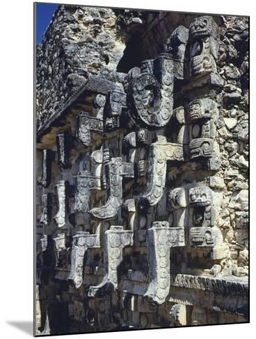 Detail of a Facade of the Temple of Codz-Poop--Mounted Giclee Print