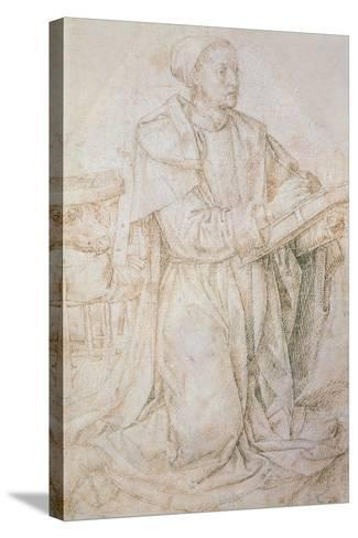 Meeting of Jacob and Rachel-Hugo van der Goes-Stretched Canvas Print
