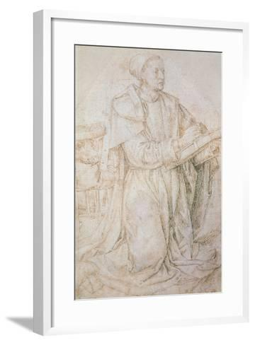 Meeting of Jacob and Rachel-Hugo van der Goes-Framed Art Print