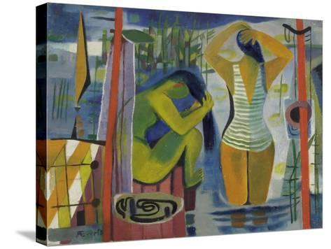 Women by a Lake, C.1945-50-Anneliese Everts-Stretched Canvas Print