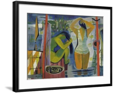 Women by a Lake, C.1945-50-Anneliese Everts-Framed Art Print