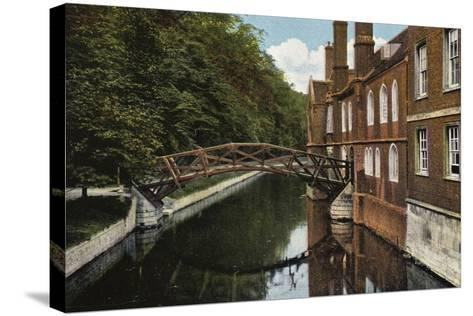 Queens' College, the Bridge--Stretched Canvas Print